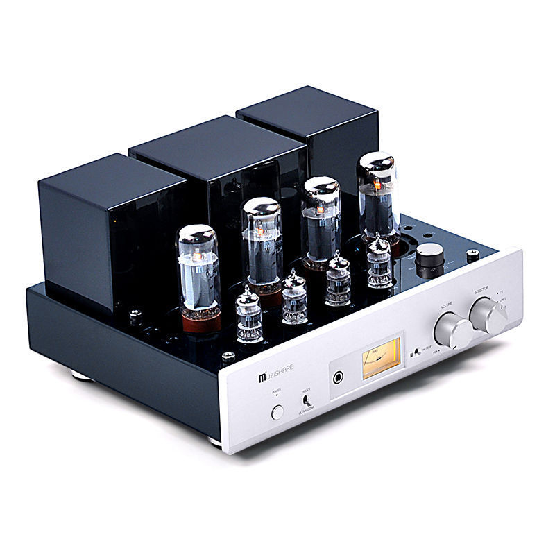 Douk Audio Latest MUZISHARE X5 HiFi Push-pull EL34 Vacuum Tube Integrated Amplifier Headphone Power Amp 35W*2  music hall latest muzishare x7 push pull stereo kt88 valve tube integrated amplifier phono preamp 45w 2 power amp