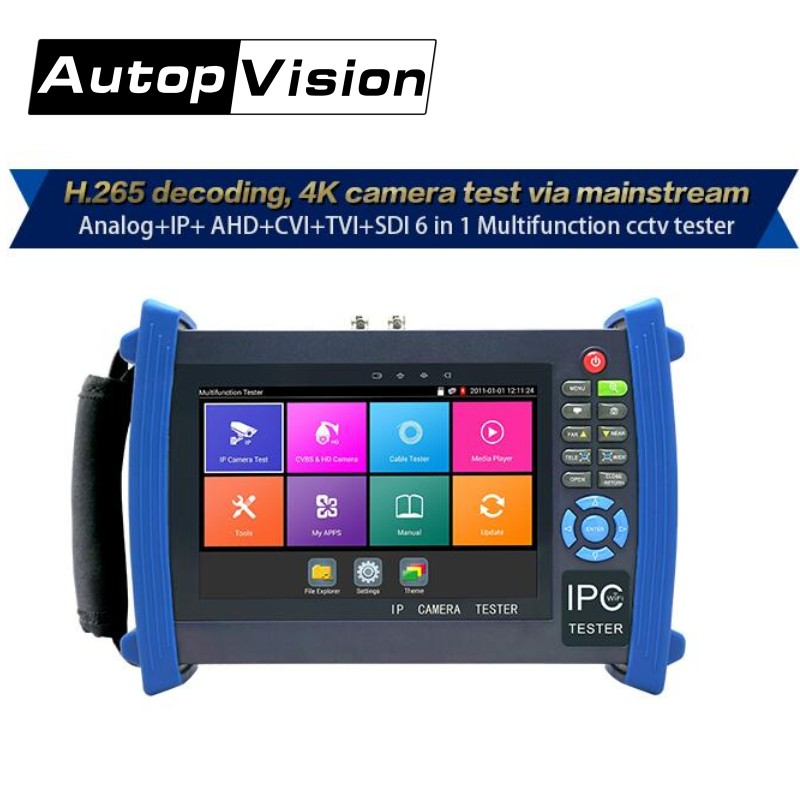 DHL Free IPC8600 PLUS 7 Inch H.265 4K IP Camera Tester 5MP AHD 8MP TVI CVI 1080P SDI CVBS CCTV Tester Monitor With Cable Tracer