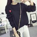 Winter New Harajuku Lovely Cartoon Women's Sweatshirt Loose Simple Velvet Tracksuits Casual Solid Color Hoodies Large Size M-XXL