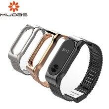 Mijobs Mi Band 2 Strap Metall Armband Für Xiaomi Mi Band 2 Schraubenlose Edelstahl Armband Armbänder Ersetzen Zubehör