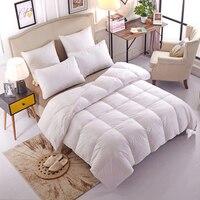 Белое одеяло на гусином пуху одеяло постельные принадлежности наполнитель полный размер королева грелка пледы дети домашний текстиль для