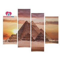 Diamond embroidery landscapes Egyptian pyramids Diamond embroidery triptych 5D diamond mosaic Pictures of rhinestones mini drill