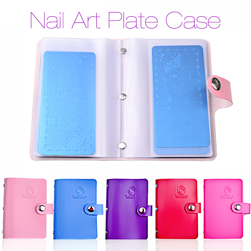 New 20slots Rectangular Nail Art Stamping Plates Empty Template Case Holder Organizer for 6cm*12cm Stencil Album Storage