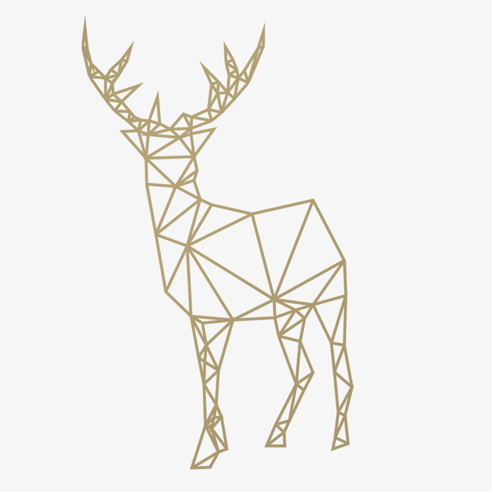 3d Geometric Shapes Wallpaper White 2017 New Design Geometric Deer Wall Stickers For Living