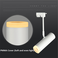 85 265Vac input 3 20W LED surface mounted ceiling lamp , 360 degree rotatable COB spot lamp with PMMA shiled,led track light