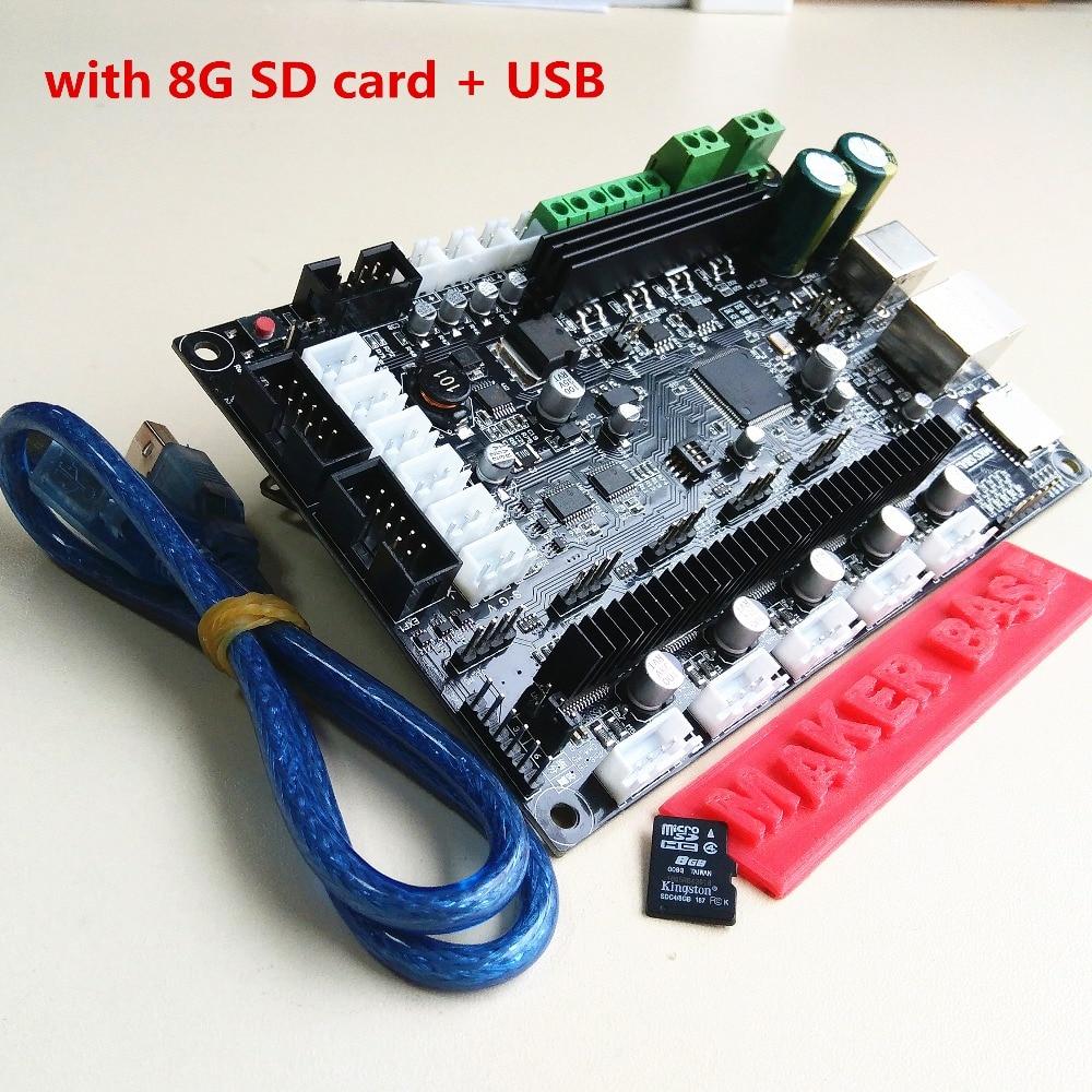 CE 32bit Arm platform Smooth control board MKS SBASE V1.3 open source MCU-LPC1768 support Ethernet preinstalled heatsink