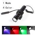 CREE XM-L T6 White /Green/Red/Purple Light LED Tactical Flashlight 501B Torch Pressure Switch Mount Hunting Rifle Gun Light Lamp