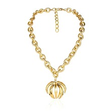 Baroque fashion exaggerated thick chain necklace geometric link necklace women bohemian statement jewelry Miss Collier best gift residence major suit high set counters million baroque full luxury retro dinner exaggerated statement necklace girlfriend gift