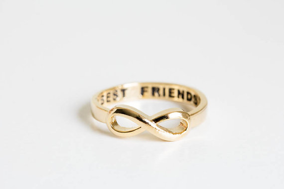 Jisensp Fashion Best Friend Infinity Rings Rose Gold Color Fashion Spacial Wedding/Engagement Ring Jewelry For Women Gift R020