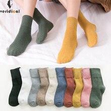 Veridical mulher meias de algodão curto boa qualidade negócios harajuku diabético meias macias meia meias térmicas fashions 5 pares/lote