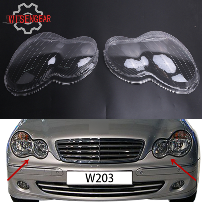 Car light headlight housing lens shell cover lamp assembly for Mercedes benz c300 windshield replacement