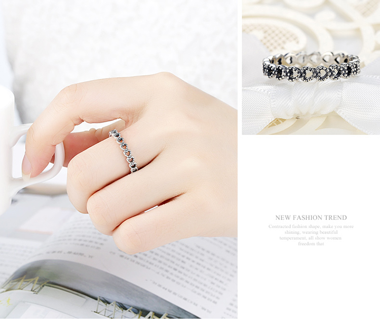 BAMOER Romantic Silver Color Heart to Heart Ring AAA Zirconia Cheap Rings for Women Wedding Jewelry Dropship PA7218 7