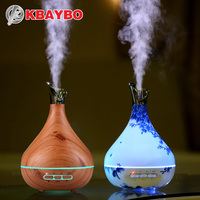 300ml Aroma Essential Oil Diffuser Ultrasonic Air Humidifier Purifier With Wood Grain LED Lights For Office