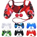 PS 4 Controlador de Silicone Caso Capa Protetora Da Pele + JoyStick Caps para SonyPlaystation 4 PS4 Game Controller FW1S
