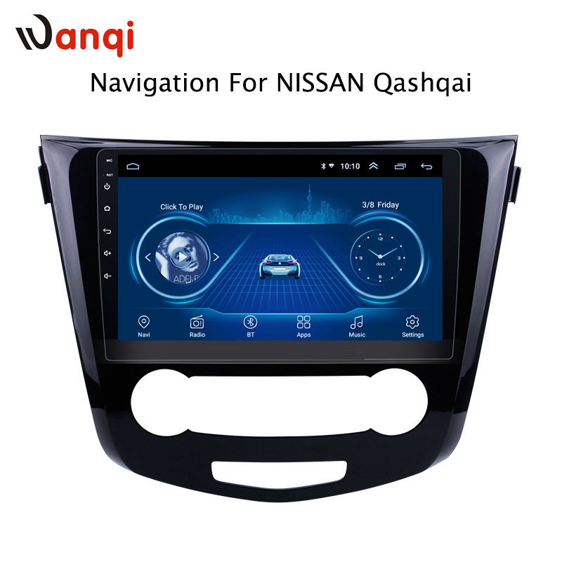 10.1inch Android 8.1 2.5D Tempered HD Touchscreen Radio ForNissan QashQai X-Trail 2013-2016 With Bluetooth USB WIFI Support SWC