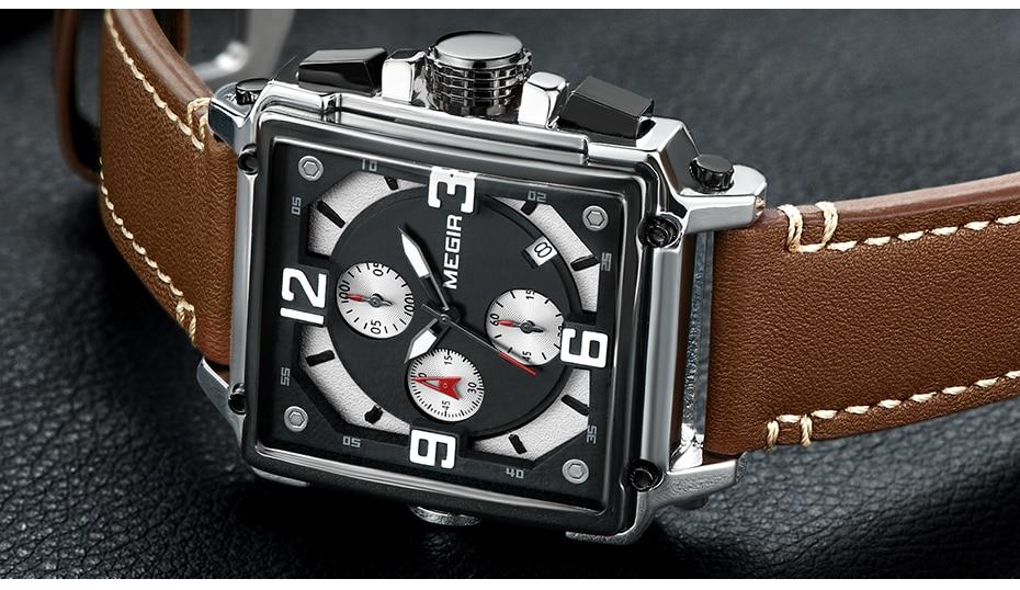 HTB1twnGTrPpK1RjSZFFq6y5PpXa2 MEGIR Creative Men Watch Top Brand Luxury Chronograph Quartz Watches Clock Men Leather Sport Army Military Wrist Watches Saat