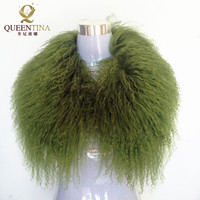 Provide Professional Real Wool Fur Collar Women 2018 Hot High Quality Green Beach Wool Collar Real Fur Shawl for Down Jacket