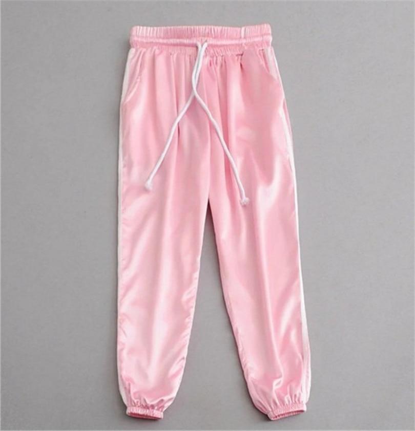 hop Femenino Nuevo Suelto rojo Promoción Leggings Necking rosado Mediados Cordón Hip 2017 Ninguno caqui azul Pantalones Acetato Casuales Lulu Negro Color Cielo Nylon plata Plana TanzPxzW4