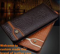 ND12 genuine leather flip cover case for Lenovo Vibe P2(5.5') phone case for Lenovo Vibe P2 leather case free shipping