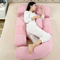 100% cotton large big G Shaped Full Body Pregnancy Maternity Support Cushion belt Pillow Maternity Pillow for Pregnant Women