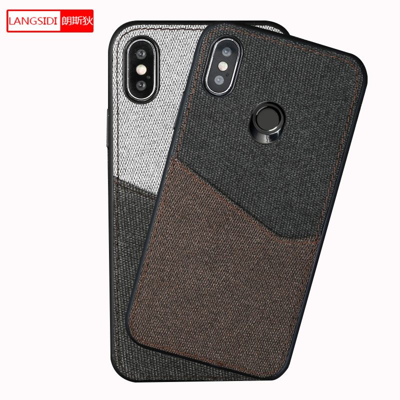 Canvas stitch Magnetic case For Xiaomi Mi 8 MI 6 8SE A2 lite 6X Mix 2s back cover card slot case For Xiaomi 9 9SE Redmi note 7