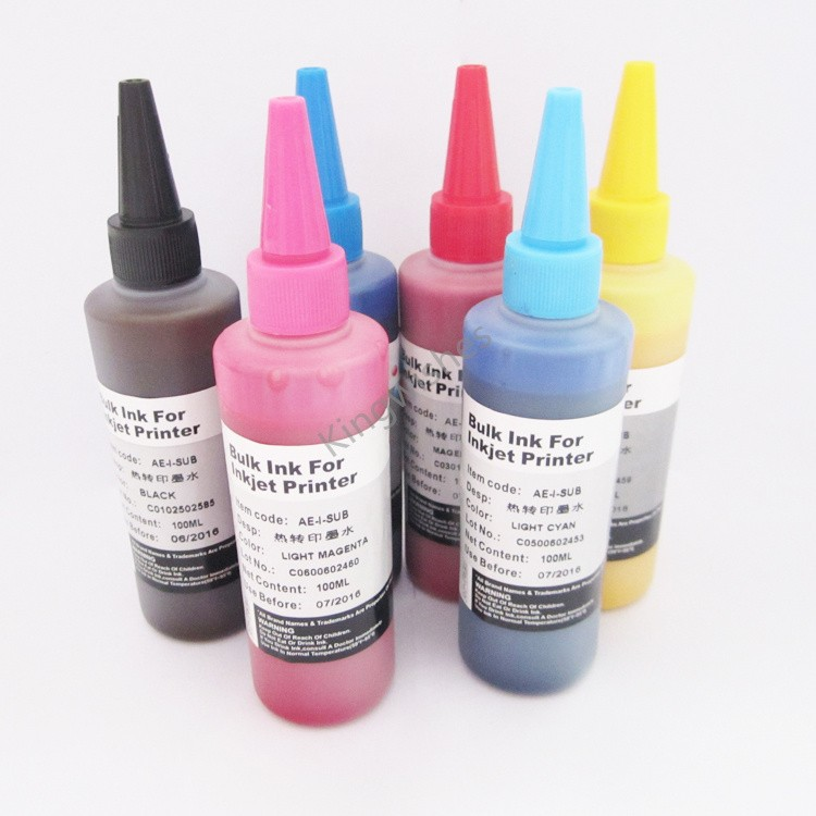 ФОТО North America Model 6PCS T2771-T2776 100ML Sublimation Ink For Epson XP-850