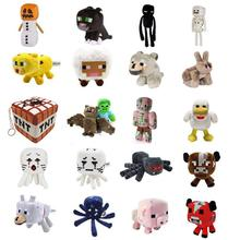 Minecraft Plush Toys 16-26cm My World Zombie Ghost Doll Wolf Enderman Ocelot Stuffed Animals TNT Strange Sheep 15 style