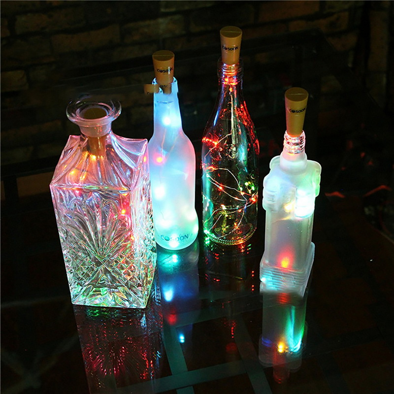Dozzlor 0.75m 15 Led String Lights Wine Stopper Lamp String Lighting For Fairy Christmas Tree Wedding Party Decoration Selected Material Festive & Party Supplies Event & Party