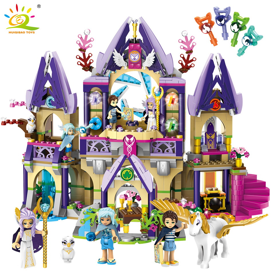 817PCS Prince Magic Mysterious Sky Castle Building Blocks Compatible Legoed Friends Elves Figures Educational Toys For Children817PCS Prince Magic Mysterious Sky Castle Building Blocks Compatible Legoed Friends Elves Figures Educational Toys For Children