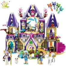 817PCS Prince Magic Mysterious Sky Castle Building Blocks Compatible Legoed Friends Elves Figures Educational Toys For Children