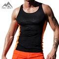 Тонкий Встроенная Tight мужские Топы Новый Сексуальный Xman Мышц эластичность мужская Фитнес Жилет Crossfit Тренировки Верхней Части Тела для Мужчин AQ20