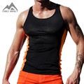 Slim Fitted Tight Men's Tank Tops New Sexy Xman Muscle Elasticity Men's Fitness Vest Crossfit Upper Body Workout for Men AQ20