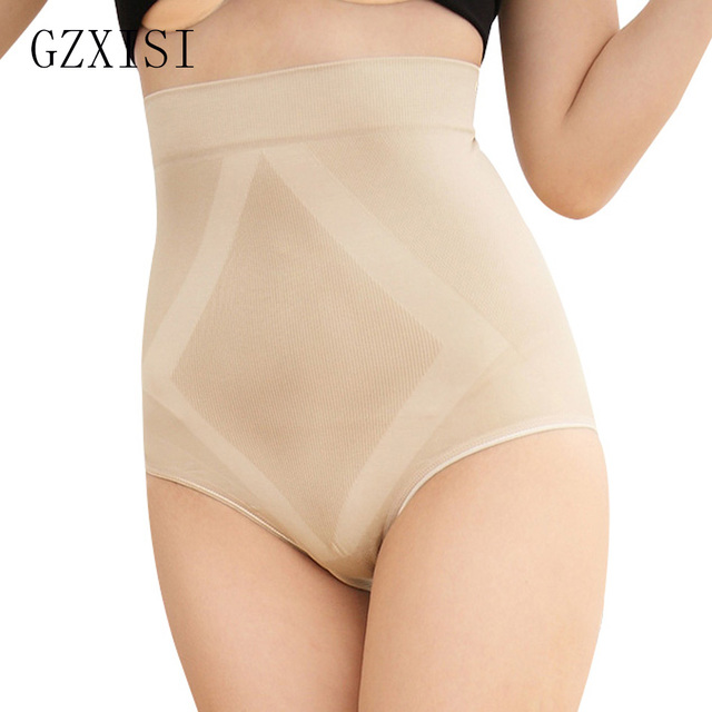 0e2fb2853 High Waist Tummy Control Body Shaping Abdomen Slimming Underwear Women  Seamless Control Panties Breathable Plus Size Underwears