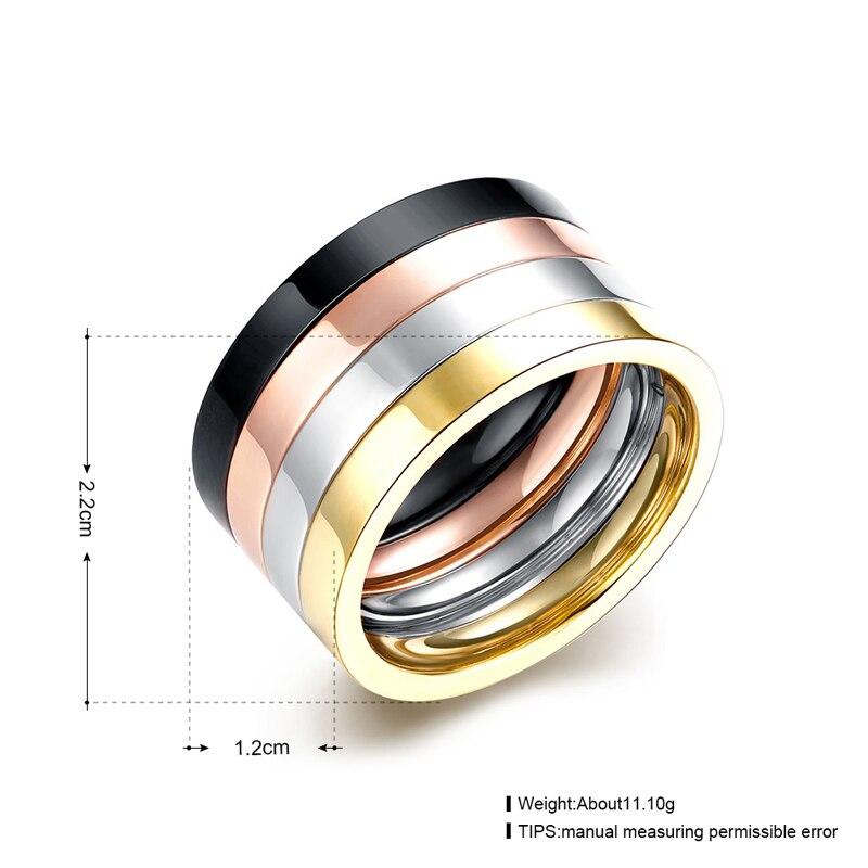 4 kom / set 316L Titanium prstenovi od nehrđajućeg čelika za kul - Modni nakit - Foto 2