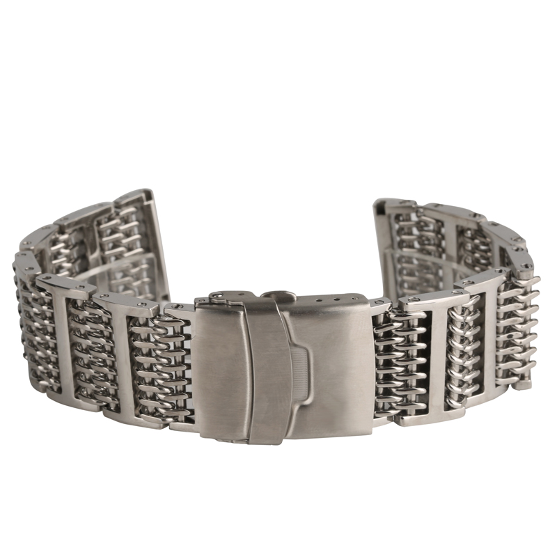 New Arrival Stainless Watch Band 20/ 22/ 24 mm Steel Mesh Band Replacement for Wrist Watch Men Women Fold Clasp Watches Bands все цены