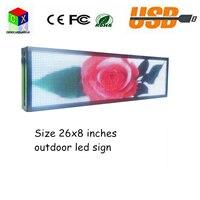 P5 светодиодная вывеска напольный полный Цвет Дисплей 26 x8» может изменить свой текст изображения электронная прокрутка направлять сообщен