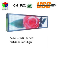 "P5 led Sign Outdoor Full Color Display 26""x8 Can Edit Text Image Electronic Scrolling Message For Shop,Window"