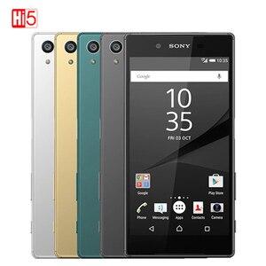 Image 1 - Desbloqueado sony z5 premium octa núcleo 23.0mp câmera do telefone móvel 5.5 ips ips ips único/duplo sim android 4g FDD LTE 3430mah impressão digital