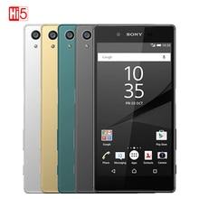 סמארטפון Sony Z5 פרימיום אוקטה Core 23.0MP מצלמה נייד טלפון 5.5 IPS יחיד/הכפול SIM אנדרואיד 4G FDD LTE 3430mAh טביעות אצבע