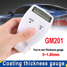 Portable Car Mini Digital Film/Coating Thickness Gauge Pait Thickness Meter Tester LCD Display Auto Power off Compact GM201 vibrometer gauge tester vibration meter analyzer lightweight accurate analysis auto power off with lcd easy to read
