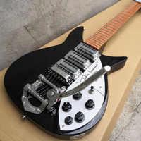 El diapasón de guitarra eléctrica 325 tiene barniz en él el puente espaciado de 527mm a la tuerca es de 527mm y guitarra de cuello corto