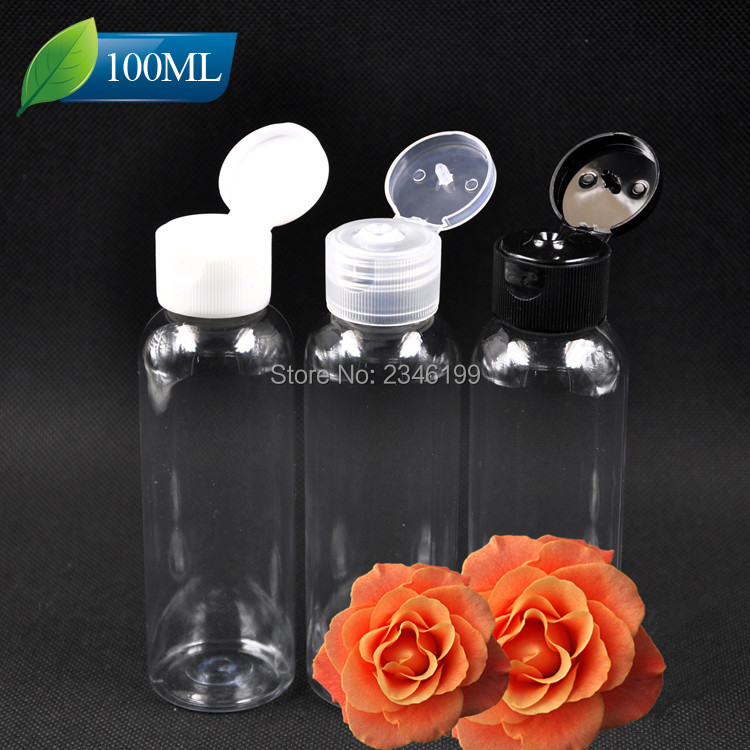 100ml 120ml 150ml 250ml Clear Plastic Empty Cosmetic Bottles Round Shoulders Liquid Container Travel Cosmetic Packaging