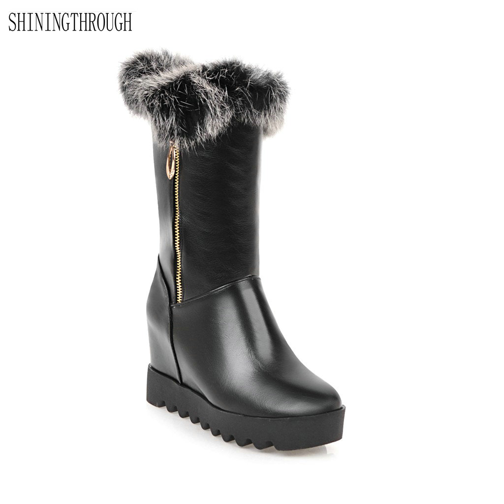 New fashion mid-calf boots winter women boots office ladies shoes high heels snow boots women shoes black white red new fashion superstar brand winter shoes embroidery snow boots tassel women mid calf boots thick heel causal motorcycles boots