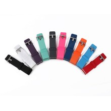 Soft Silicon Rubber Candy Color Sports Watch Band Wrist Strap for Fitbit Blaze with Metal Buckle New Arrival