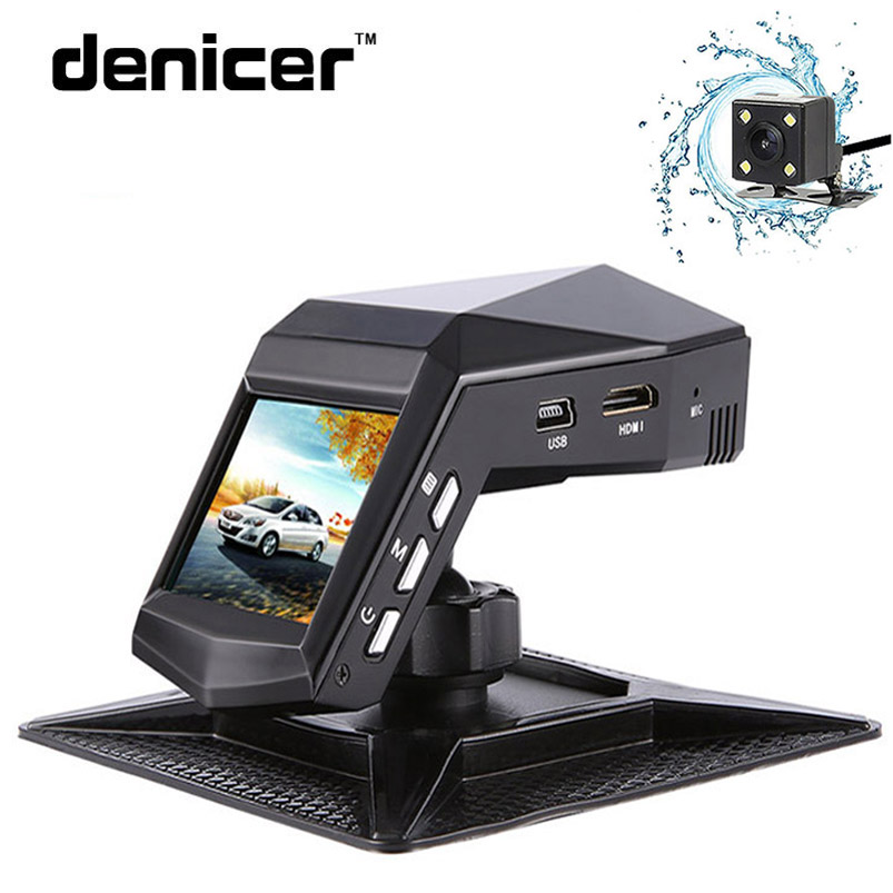 Denicer Car Dvr Camera Dual Lens Dash Cam Full HD 1920x1080P Video Recorder Camcorder Registrator With Rearview Cameras G-sensor