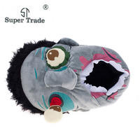 Free Shipping 1Pair Plush Zombie Slippers Ravenous Zombie Warm Slippers