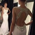 Sereia Sexy Prom Dresses As COSTAS Abertas Designer Branco Vestido de Baile Vestidos De Festa Vestido Longo Sexy Prom Vestidos Longos 2016