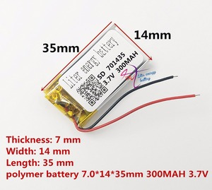 Image 3 - Najlepsza bateria marki 3.7 V bateria litowo polimerowa 701435 701535 300 mAH rejestrator dźwięku bezprzewodowa mysz długopis z funkcją nagrywania