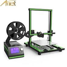 2017 Анет E10 Алюминий Рамка Высокая точность рабочего стола 3D-принтеры RepRap Prusa I3 DIY Kit Набор Off-Line печать Бесплатная 0.5 кг нити
