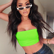 2019 Stylish Women Off Shoulder Strapless Tank Vest Crop Tops Outwear Stretch Breathable One Piece Bra Wrapped Chest Microfiber